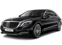 Almaty Mercedes S550 W222 luxury sedan car rental, hire with a driver